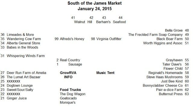 South of the James Farmers Market Richmond Virginia 2015 January 24 update