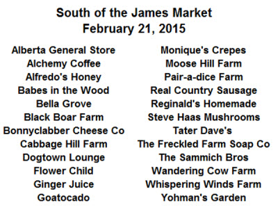South of the James Market February 21, 2015 smaller