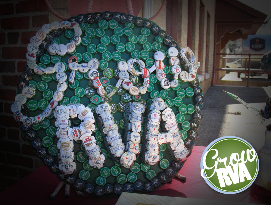 GrowRVA logo in bottle caps