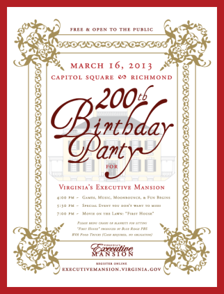 Virginia Governors Mansion Birthday Party