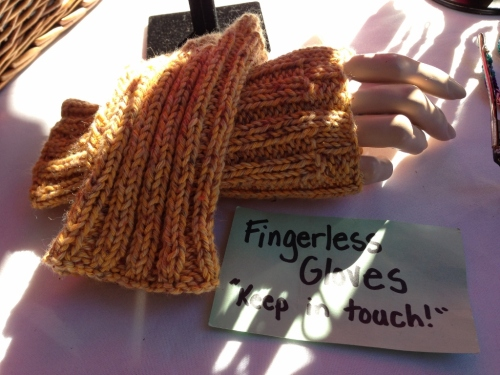 Carolyn Fischetti fingerless gloves