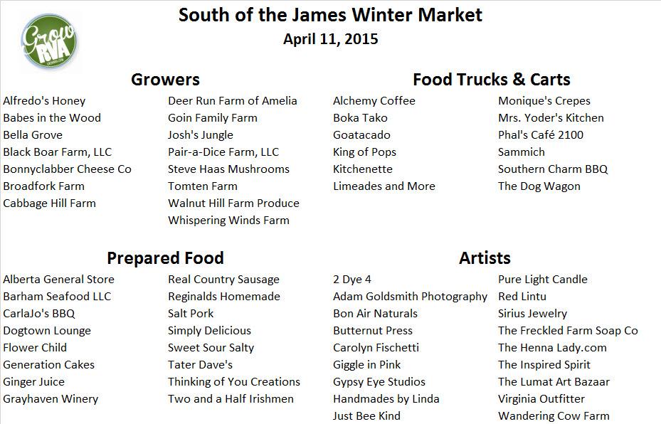 SOJ, SOTJ, South of the James Market, RVA