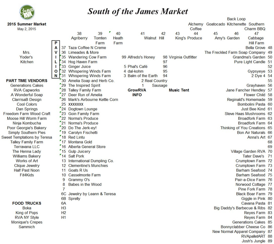 South of the James Market 2015.05.02 opening day