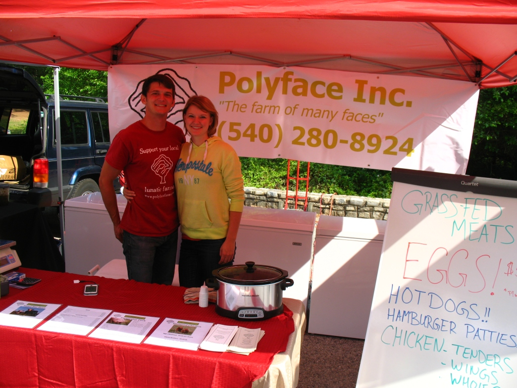 Polyface Farms at South of the James Farmers Market VA