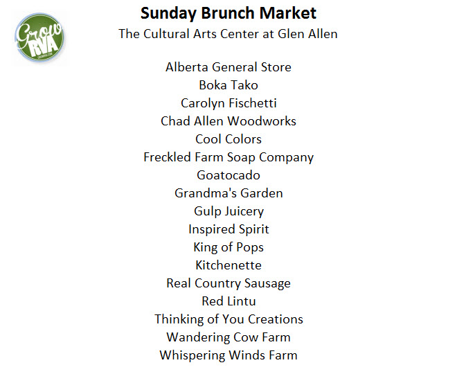 Sunday Brunch Market Glen Allen VA May 10, 2015