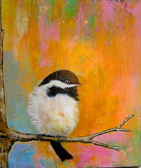 Cool Colors bird paintings (2)