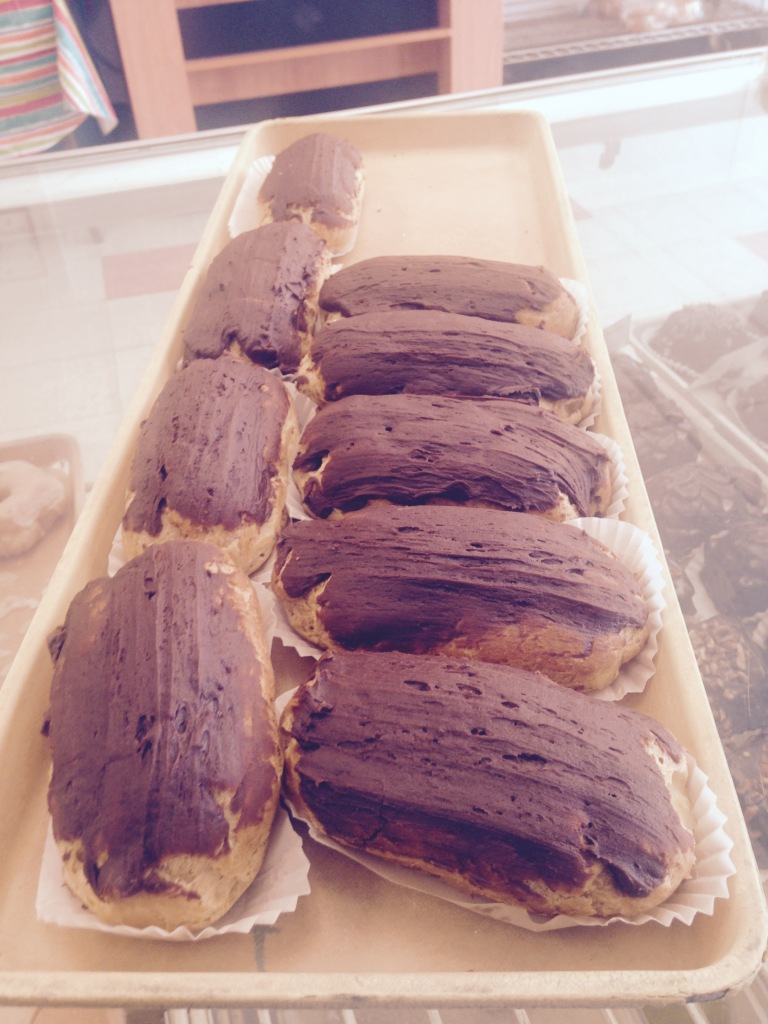 Eclairs - photo from Williams Bakery 2015