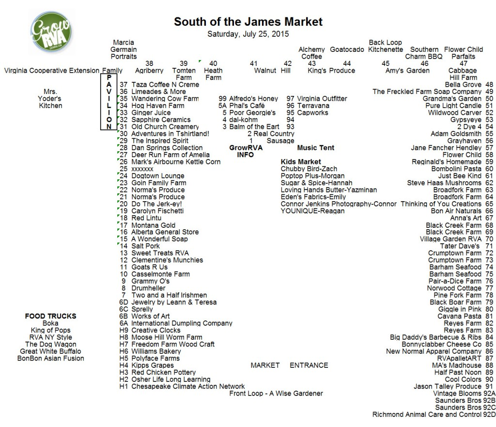 GrowRVA's South of the James Market July 25, 2015 in Forest Hill Park