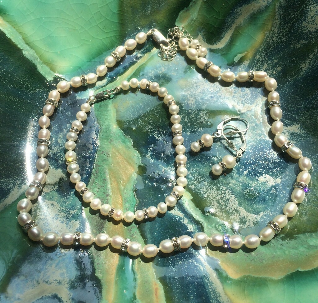 wedding day jewelry from Handmades by Linda
