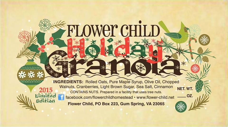 Flower Child Holiday Granola
